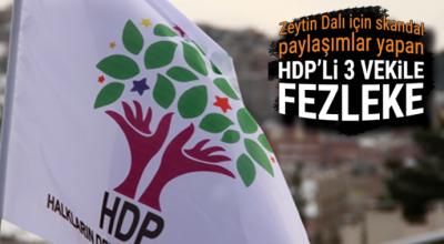 Zeytin Dalı'yla ilgili skandal paylaşımlar yapan HDP'li vekillere fezleke