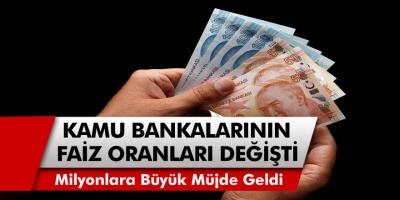 Ziraat Bankası, Halkbank ve Vakıfbank tarafından taşıt ve konut kredi faiz oran güncellendi…